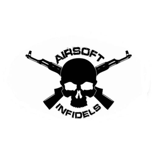 Airsoft infidels Sticker