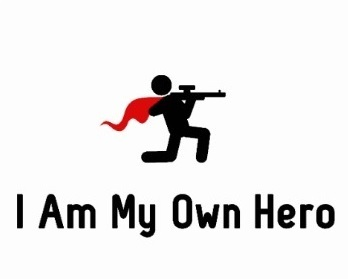 I Am My Own Hero Sticker
