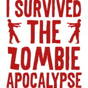 The Zombie Apocalypse Sticker