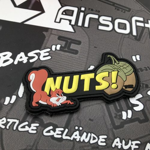 """Nuts!"" - 3D Rubber Patch"