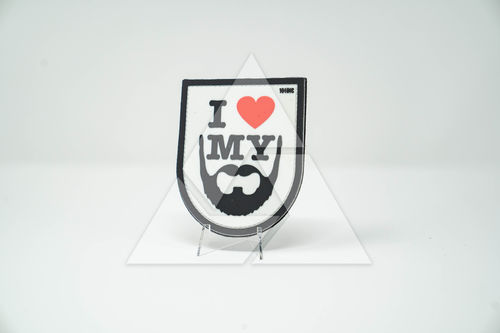 """I love my beard"" - 3D Rubber Patch"