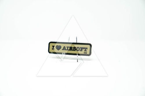 """I love airsoft"" - 3D Rubber Patch"