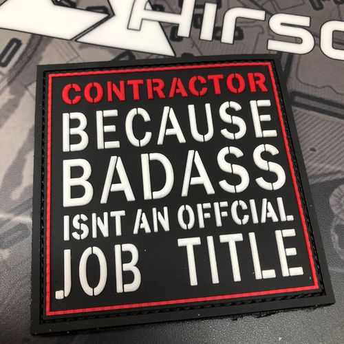 """Contractor - Badass"" - 3D Rubber Patch"