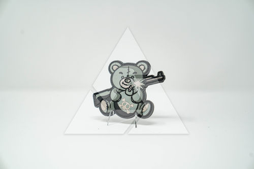 """Terror Teddy (grey)"" - 3D Rubber Patch"