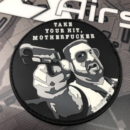 """Airsoftevents e.V., take your hit"" - 3D Rubber Patch"